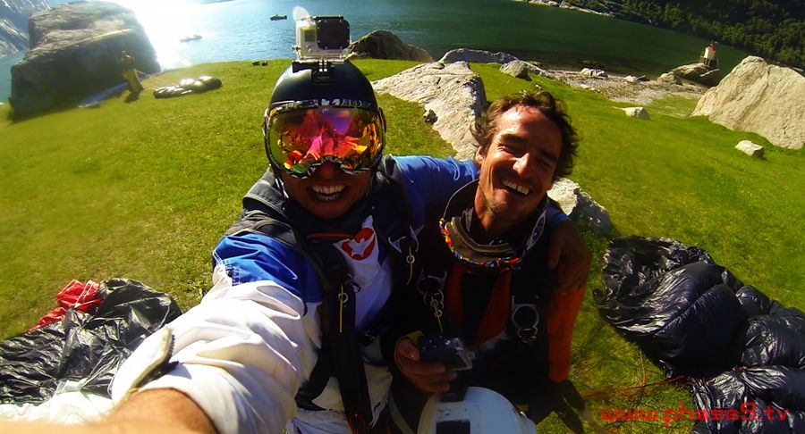 BASE - Alexander Poll and Carlos Briceno Schutte in Norway (Alex GoPro)