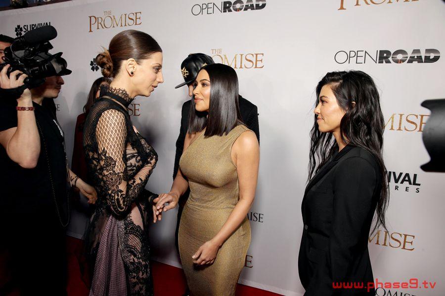 Angela Sarafyan + Kim Kardashian + Kourtney Kardashian
