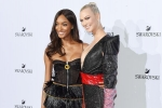 Swarovski Crystal Wonderland Party Jourdan Dunn and Karlie Kloss