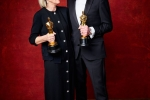 "David Wasco for Production Design and Sandy Reynolds-Wasco for Set Decoration accept the Oscar for Achievement in production design, for work on ""La La Land"""