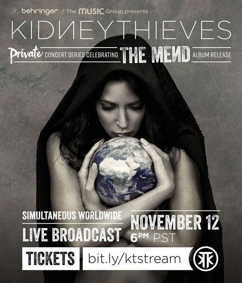 Kidneythieves live stream poster