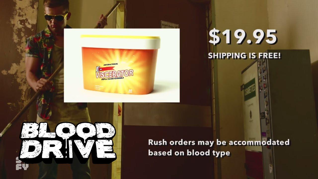 BLOOD DRIVE – Definitely Not Fake Commercial: E-Viscerator
