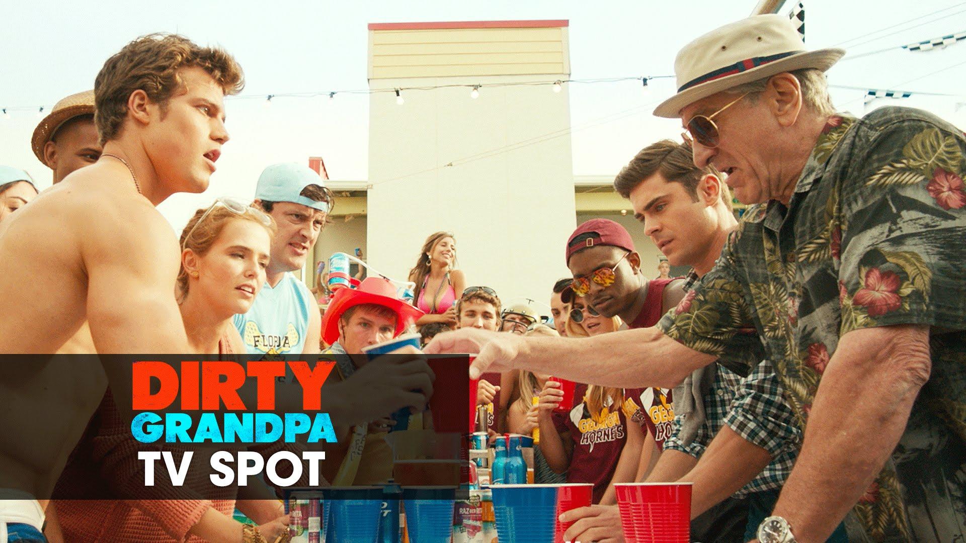 "Dirty Grandpa (2016 Movie – Zac Efron, Robert De Niro) Official TV Spot – ""Let's Go"""