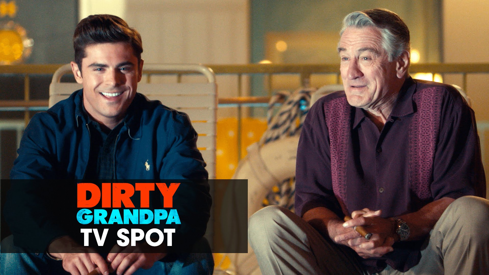 "Dirty Grandpa (2016 Movie – Zac Efron, Robert De Niro) Official TV Spot – ""Respect"""