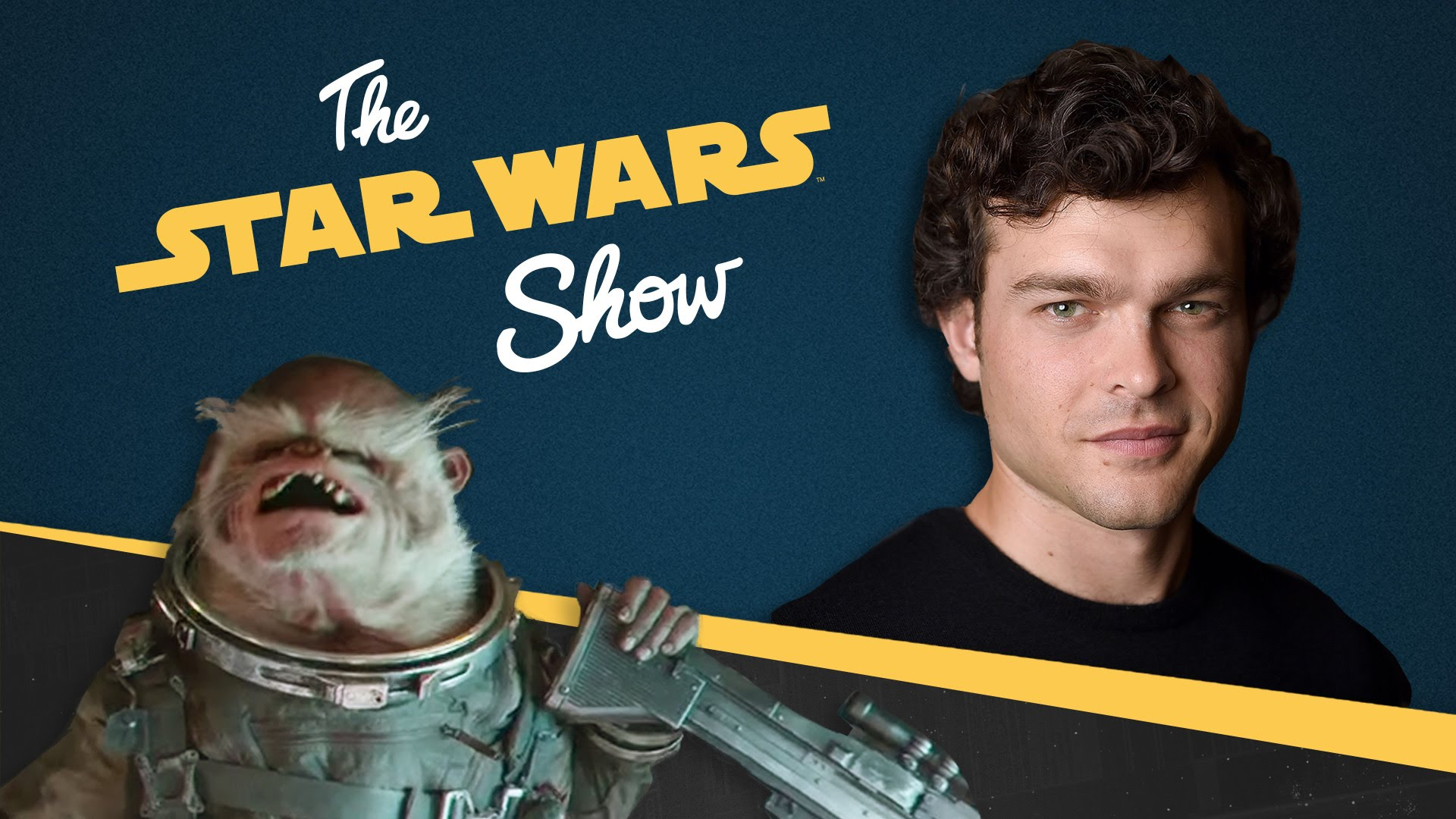 Exclusive Chat with Alden Ehrenreich and Details on Rogue One's Space Monkey | The Star Wars Show