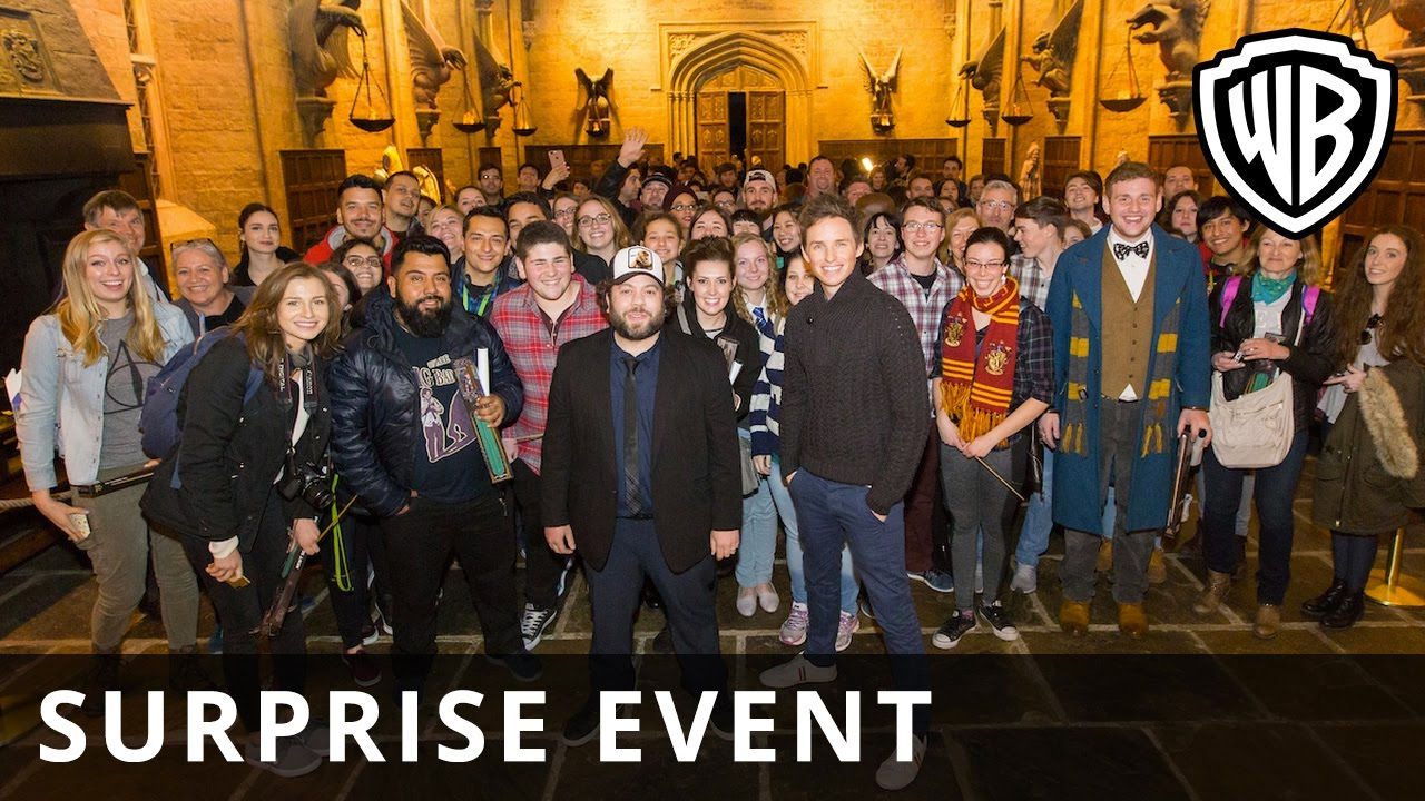 Fantastic Beasts and Where to Find Them – Surprise Event – Warner Bros. UK