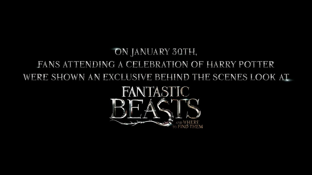 Fantastic Beasts and Where to Find Them – Highlight Reel from A Celebration of Harry Potter [HD]