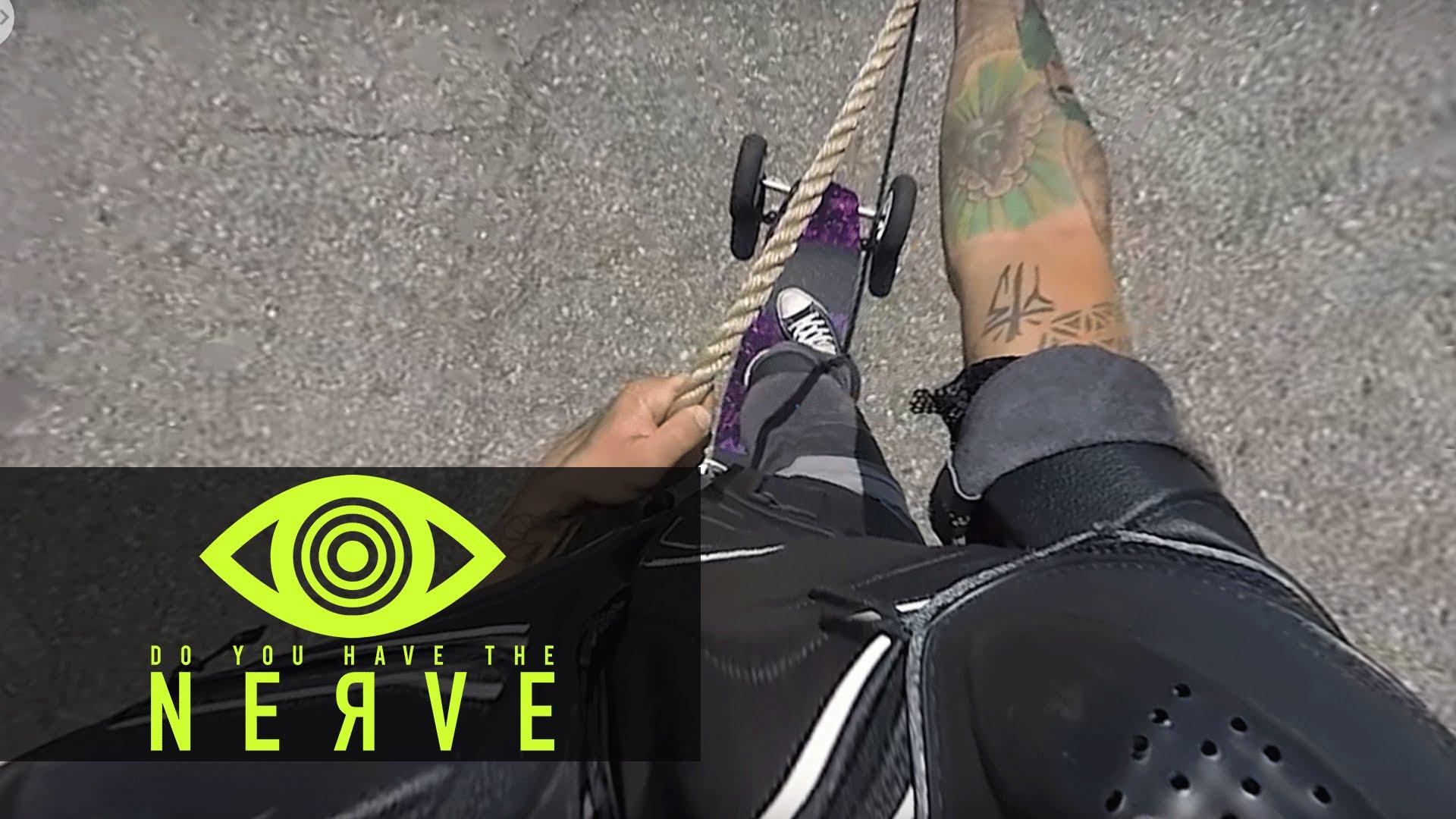 Nerve (2016) 360 Video – VR Dare: Skateboard Behind A Cop Car