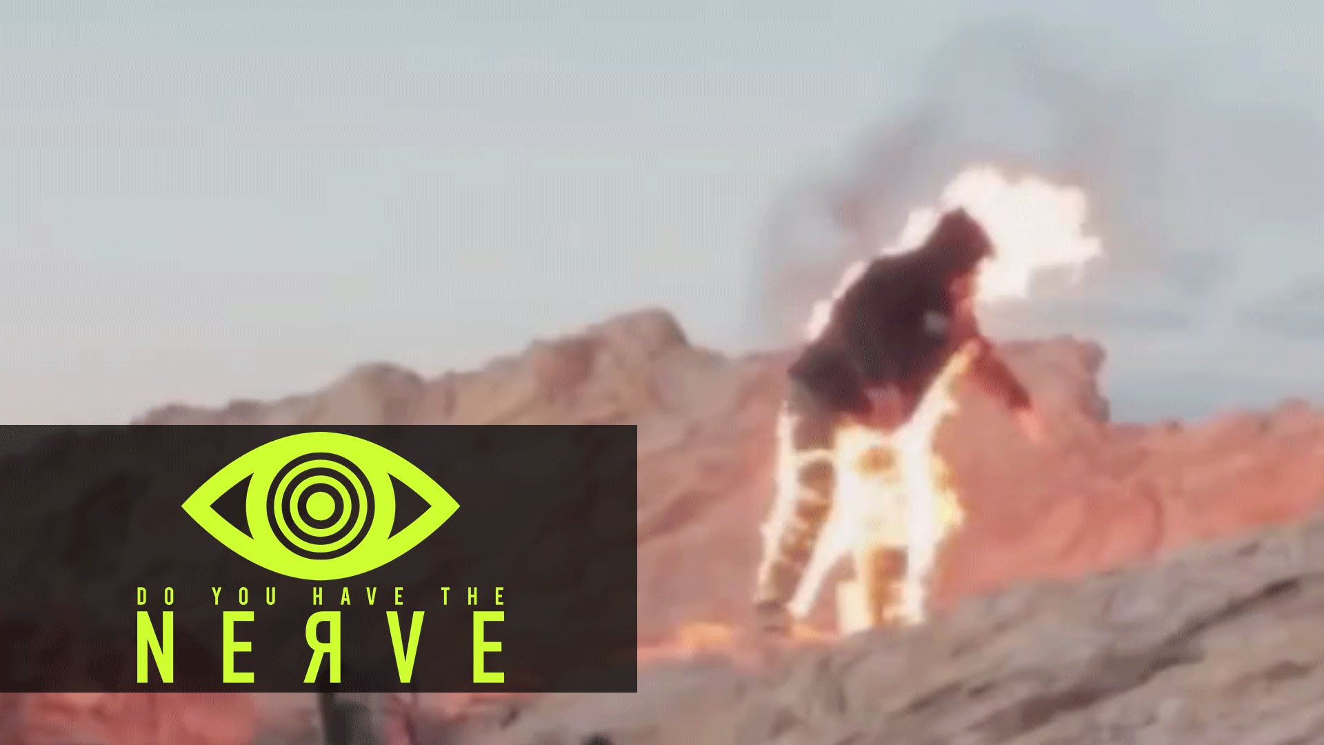 "Nerve Dare – ""Fire Cliff Jump"""