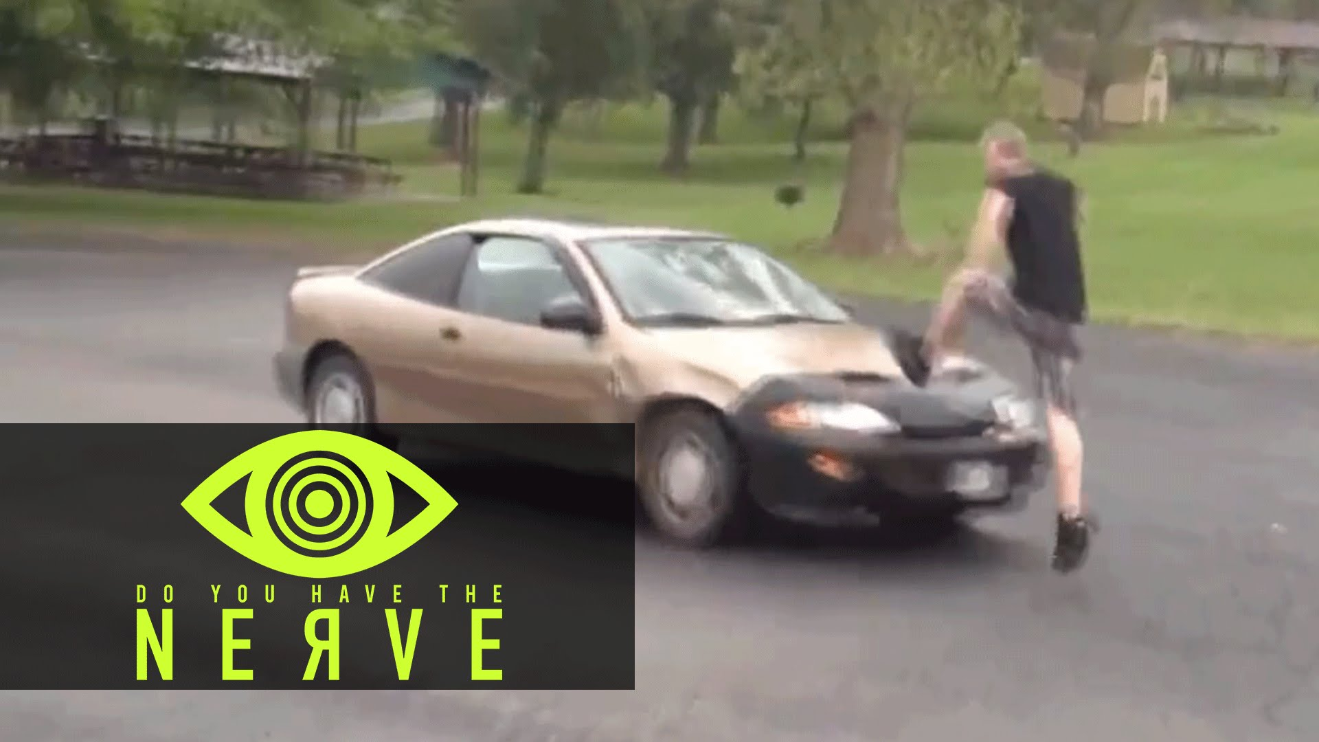 "Nerve Dare – ""Jump Over A Moving Car"""
