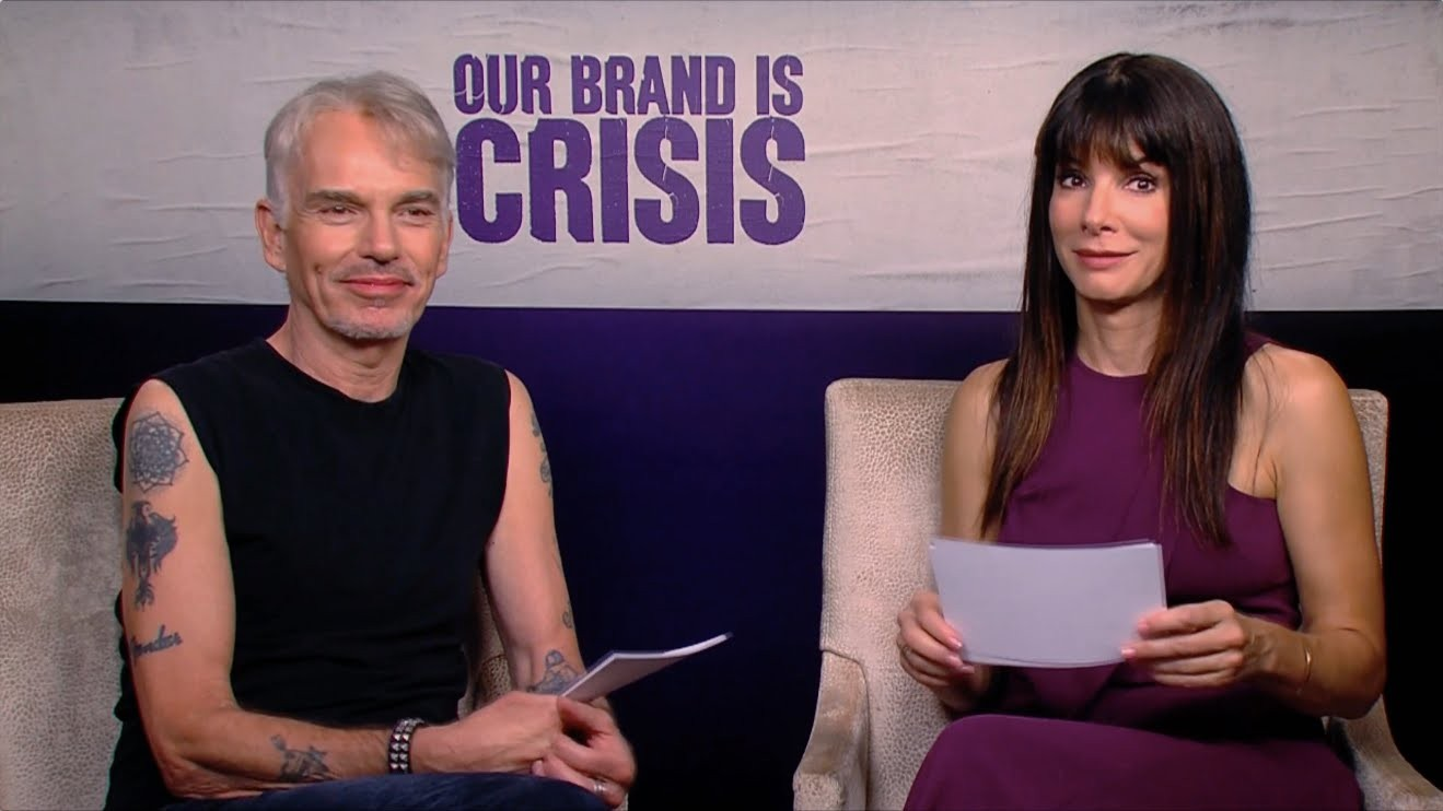 Our Brand Is Crisis – Fan Questions with Sandra Bullock and Billy Bob Thornton [HD]