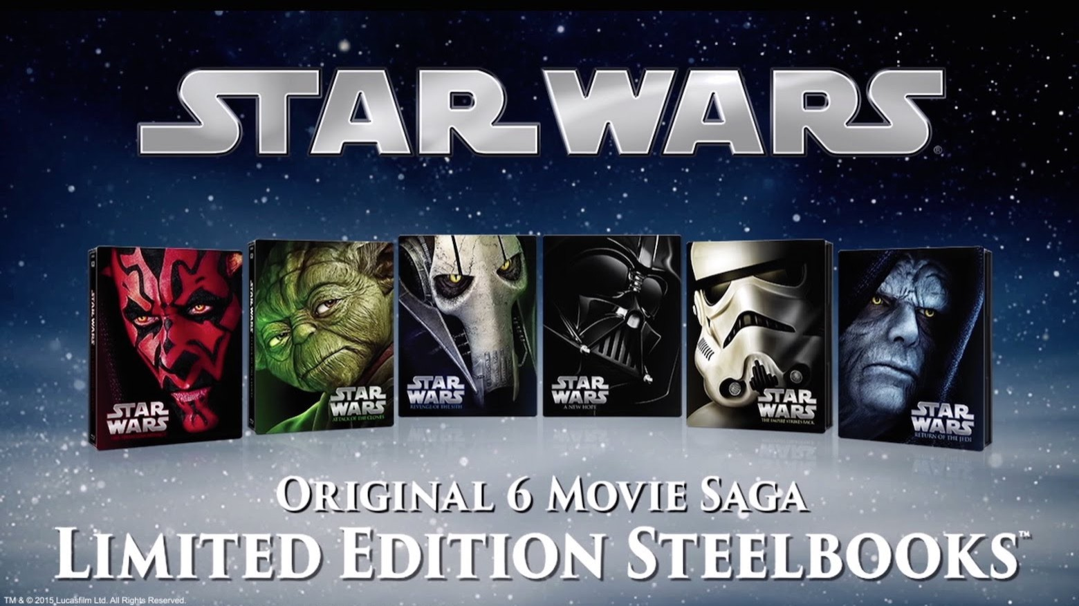 Star Wars Blu-ray Steelbooks Trailer